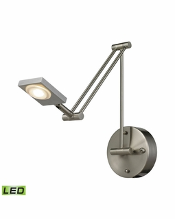 54018/1 Elk Modern Reilly 1 Light Swingarm In Brushed Nickel And Brushed Aluminum