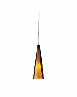 545-1SAH Elk Desert Winds 1 Light Mini Pendant In Satin Nickel And Sahara Glass