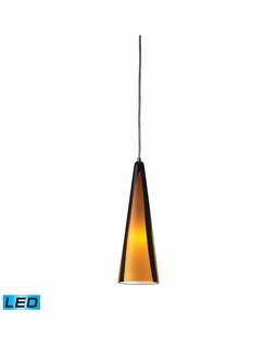 545-1SAH-LED Elk Desert Winds 1 Light LED Mini Pendant In Satin Nickel And Sahara Glass