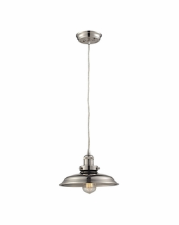55011/1 Elk Restoration Newberry 1 Light Mini Pendant In Polished Nickel