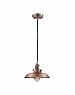 55031/1 Elk Restoration Newberry 1 Light Mini Pendant In Antique Copper