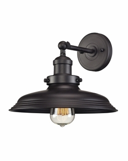 55040/1 Elk Restoration Newberry 1 Light Wall Sconce In Oil Rubbed Bronze