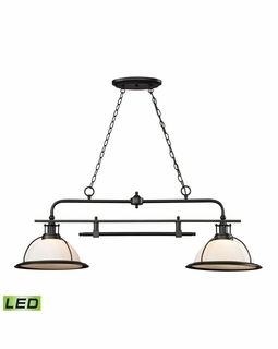 55046/2-LED Elk Restoration Wilmington 2 Light LED Billiard In Oil Rubbed Bronze