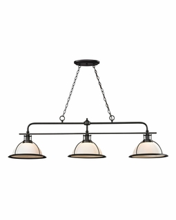 55047/3 Elk Restoration Wilmington 3 Light Billiard In Oil Rubbed Bronze