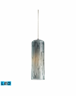 551-1MD-LED Elk Maple 1 Light LED Mini Pendant In Satin Nickel And Maple Dusk