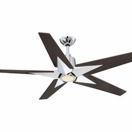 56-5075-5CN-11 Savoy House Transitional Buckenham 5 Blade Ceiling Fan in Polished Chrome