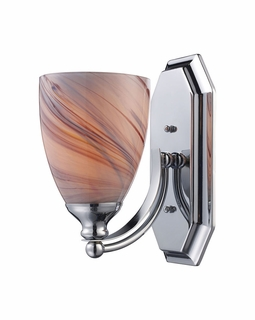 570-1C-CR Elk Bath And Spa 1 Light Vanity In Polished Chrome And Creme Glass