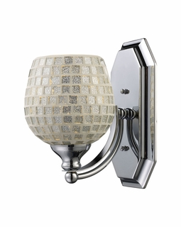 570-1C-SLV Elk Bath And Spa 1 Light Vanity In Polished Chrome And Silver Glass