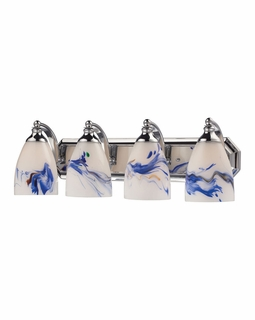 570-4C-MT Elk Bath And Spa 4 Light Vanity In Polished Chrome And Mountain Glass