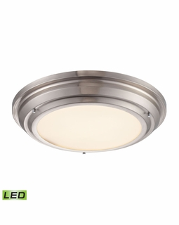 57001/LED Elk Sonoma 31 Watt LED Flushmount In Brushed Nickel
