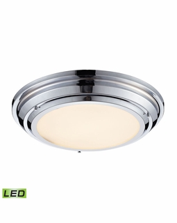 57011/LED Elk Sonoma 31 Watt LED Flushmount In Polished Chrome