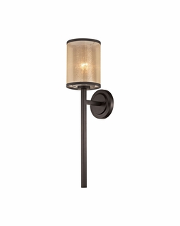 57023/1 Transitional Diffusion 1 Light Wall Sconce In Oil Rubbed Bronze
