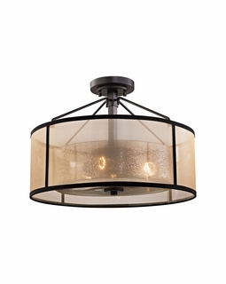57024/3 Transitional Diffusion 3 Light Semi Flush In Oil Rubbed Bronze