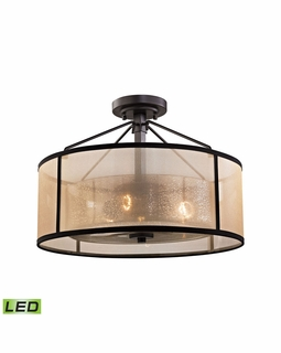 57024/3-LED Transitional Diffusion 3 Light LED Semi Flush In Oil Rubbed Bronze
