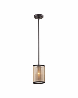 57026/1 Transitional Diffusion 1 Light Mini Pendant In Oil Rubbed Bronze
