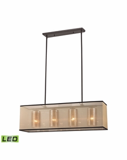 57028/4-LED Transitional Diffusion 4 Light LED Chandelier In Oil Rubbed Bronze