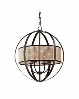 57029/4 Transitional Diffusion 4 Light Chandelier In Oil Rubbed Bronze