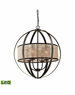 57029/4-LED Transitional Diffusion 4 Light LED Chandelier In Oil Rubbed Bronze