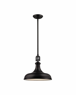 57061/1 Elk Restoration Rutherford 1 Light Pendant In Oil Rubbed Bronze