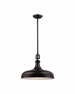 57062/1 Elk Restoration Rutherford 1 Light Pendant In Oil Rubbed Bronze