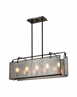 57093/5 Elk Modern Lindhurst 5 Light Island In Oil Rubbed Bronze