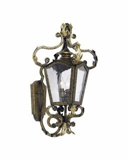 5780-CB Elk Acadiana Outdoor Wall Lantern In Castle Bronze And Water Glass