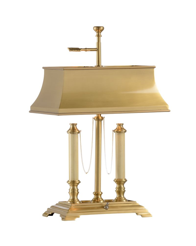 - 584 Wildwood Lamps Classic Desk Lamp - Antique Brass Finish