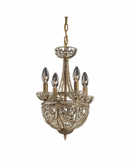 5973/4+1 Elk Classics Elizabethan 5 Light Chandelier In Dark Bronze