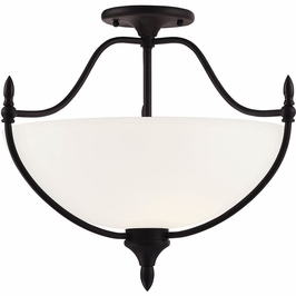 6-1005-3-13 Savoy House Transitional Herndon 3 Light Semi-Flush in English Bronze