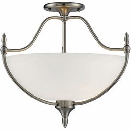 6-1005-3-SN Savoy House Transitional Herndon 3 Light Semi-Flush in Satin Nickel