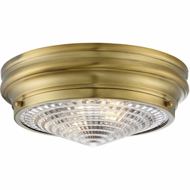 "6-9069-13-322 Savoy House Transitional Benton 13"" Flush Mount in Warm Brass"