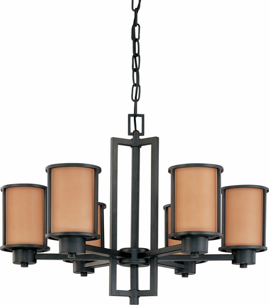 60 3826 nuvo lighting odeon 6 light chandelier in aged