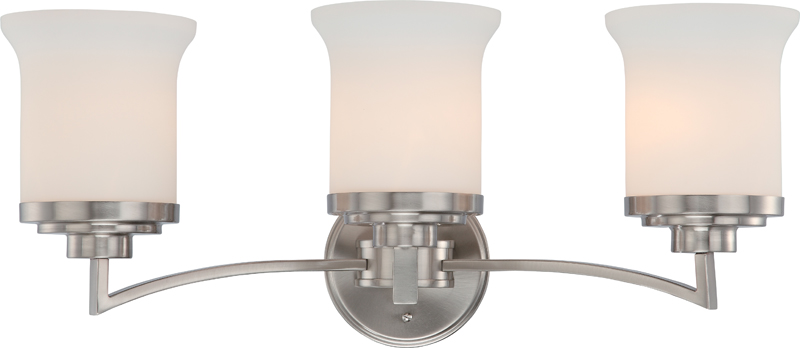 60/4103 Nuvo Contemporary Brushed Nickel Harmony 3 Light