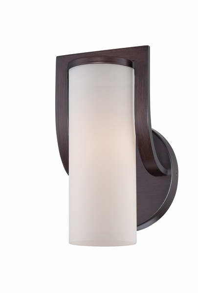 60/5231 Nuvo Transitional Georgetown Bronze Daytona 1 Light Vanity Fixture w/ Satin White Glass