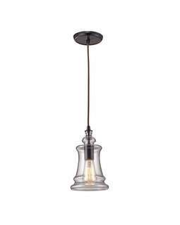 60042-1 Elk Restoration Menlow Park 1 Light Mini Pendant In Oil Rubbed Bronze