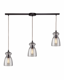 60043-3L Elk Restoration Menlow Park 3 Light Mini Pendant In Oil Rubbed Bronze