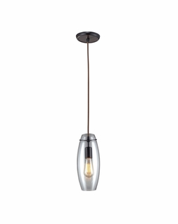 60044-1 Elk Restoration Menlow Park 1 Light Mini Pendant In Oil Rubbed Bronze