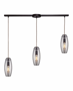 60044-3L Elk Restoration Menlow Park 3 Light Mini Pendant In Oil Rubbed Bronze
