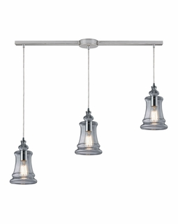 60052-3L Elk Restoration Menlow Park 3 Light Mini Pendant In Polished Chrome