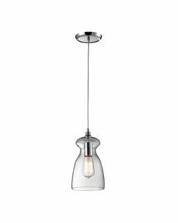 60053-1 Elk Restoration Menlow Park 1 Light Mini Pendant In Polished Chrome