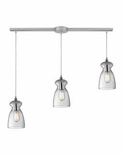 60053-3L Elk Restoration Menlow Park 3 Light Mini Pendant In Polished Chrome