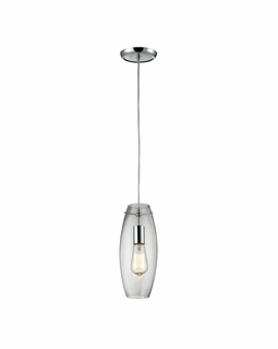 60054-1 Elk Restoration Menlow Park 1 Light Mini Pendant In Polished Chrome