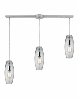 60054-3L Elk Restoration Menlow Park 3 Light Mini Pendant In Polished Chrome
