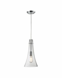 60055-1 Elk Restoration Menlow Park 1 Light Mini Pendant In Polished Chrome
