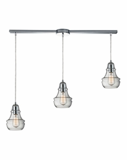 60057-3L Elk Restoration Menlow Park 3 Light Mini Pendant In Polished Chrome
