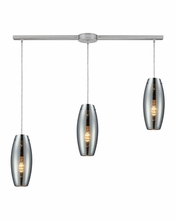 60064-3L Elk Restoration Menlow Park 3 Light Mini Pendant In Polished Chrome
