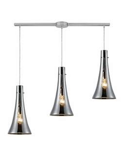 60065-3L Elk Restoration Menlow Park 3 Light Mini Pendant In Polished Chrome