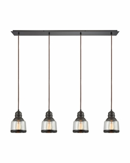 60068/4LP Elk Restoration Menlow Park 4 Light Mini Pendant In Oil Rubbed Bronze