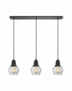 60069/3LP Elk Restoration Menlow Park 3 Light Mini Pendant In Oil Rubbed Bronze