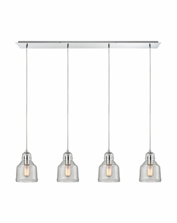60072/4LP Elk Restoration Menlow Park 4 Light Mini Pendant In Polished Chrome